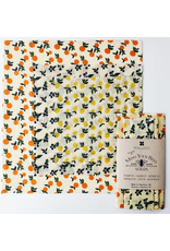 Ten & Co Vintage Fruit Beeswax Wrap - 3 pc