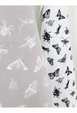 Ten & Co Tea Towel Bugs (Black) on White