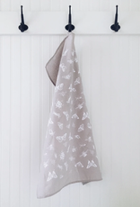 Ten & Co Tea Towel Bugs (White) on Warm Grey