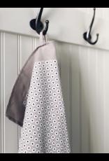 Ten & Co Tea Towel - White Starburst on Grey