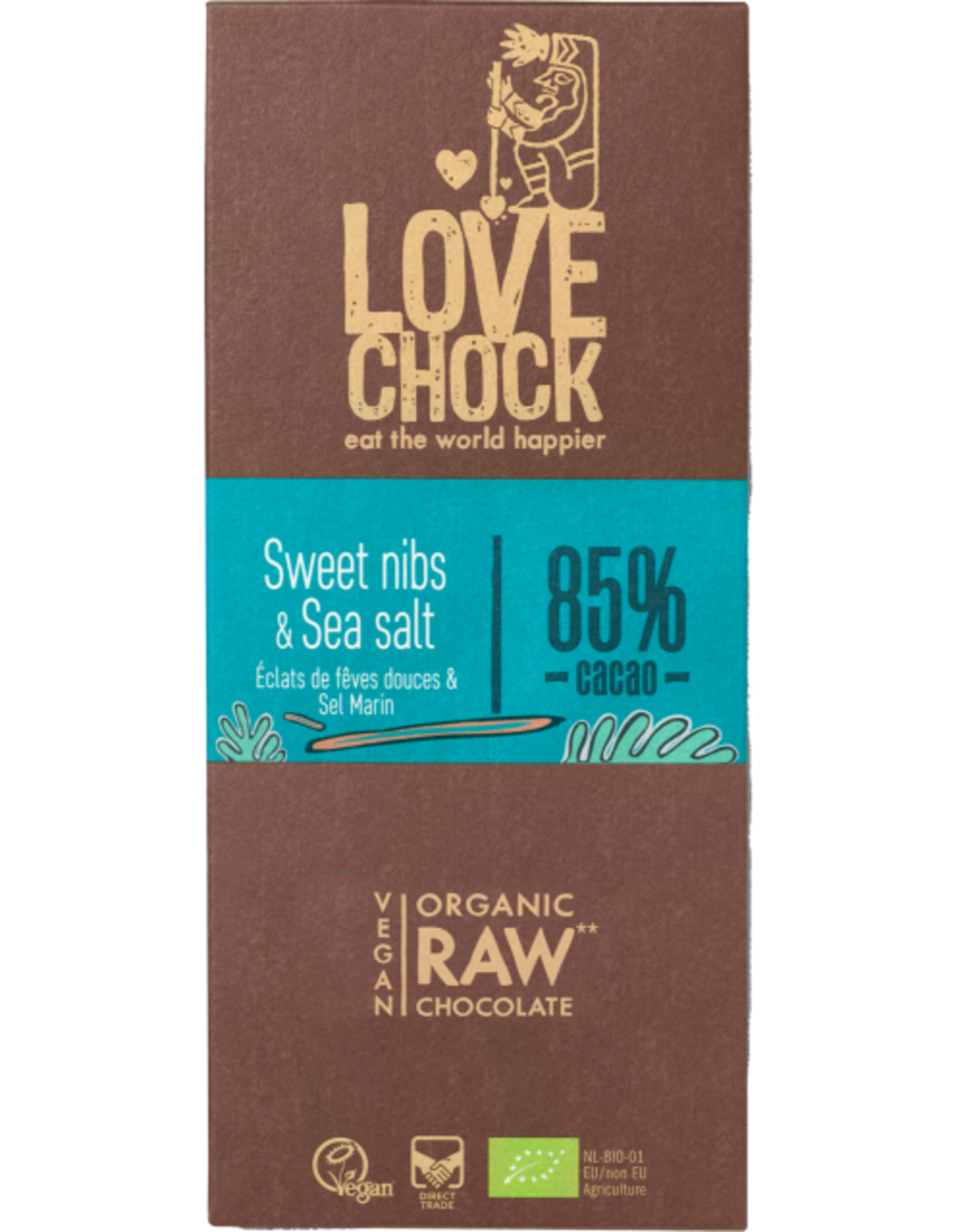 Lovechock Sweet Nibs + Sea Salt Chocolate