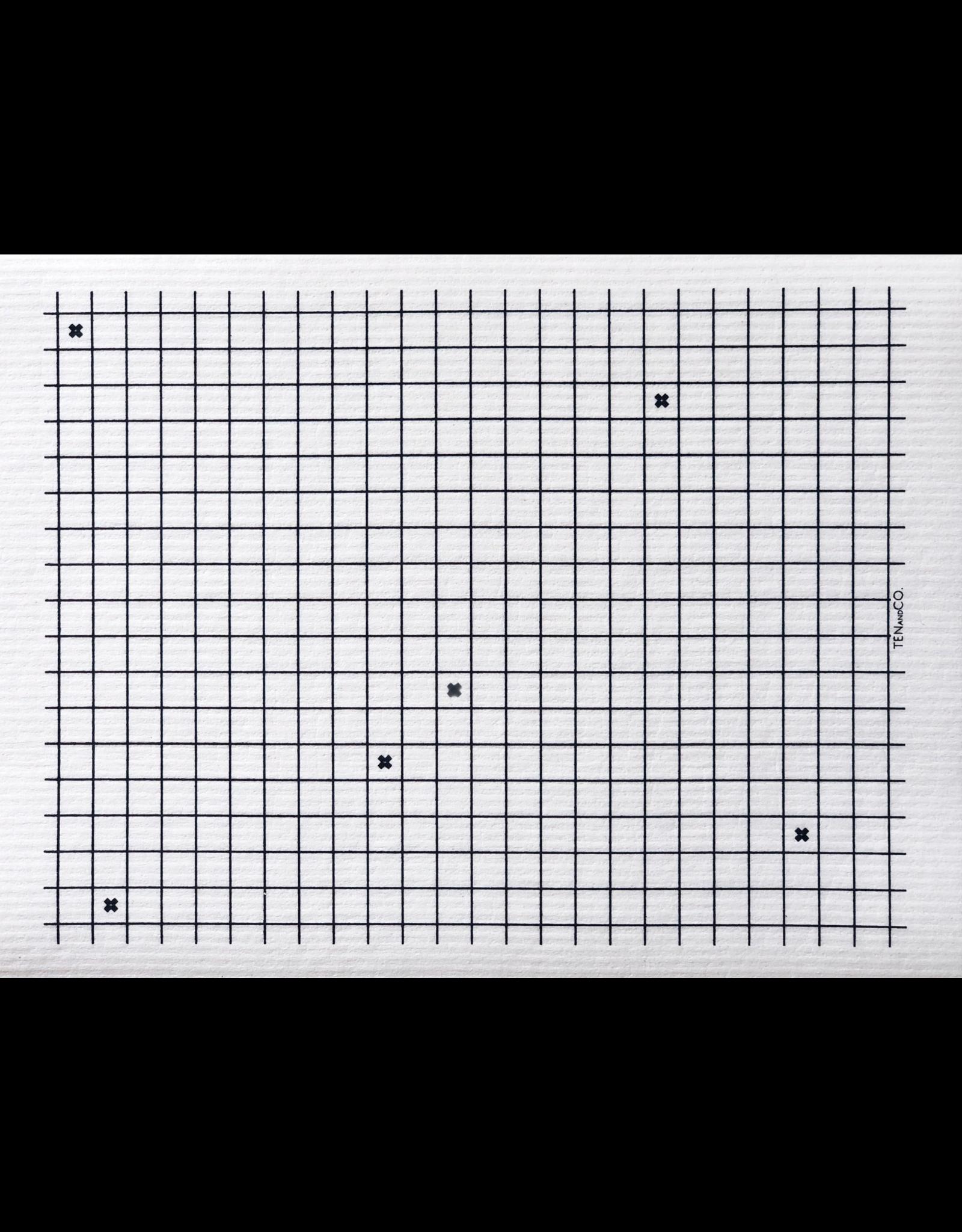 Ten & Co Sponge Cloth XL Graph