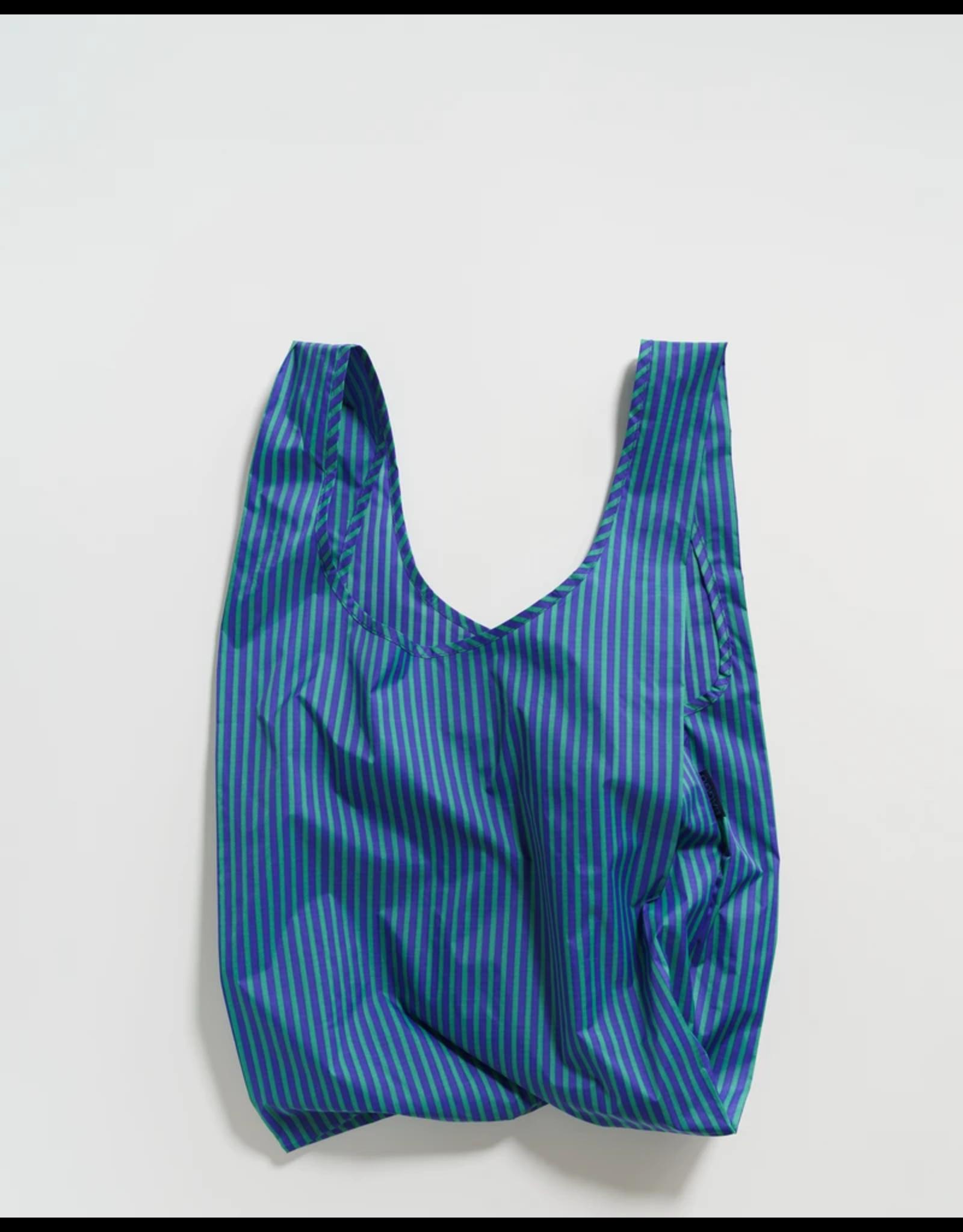 Baggu Baggu Cobalt & Jade Stripe Reusable Bag