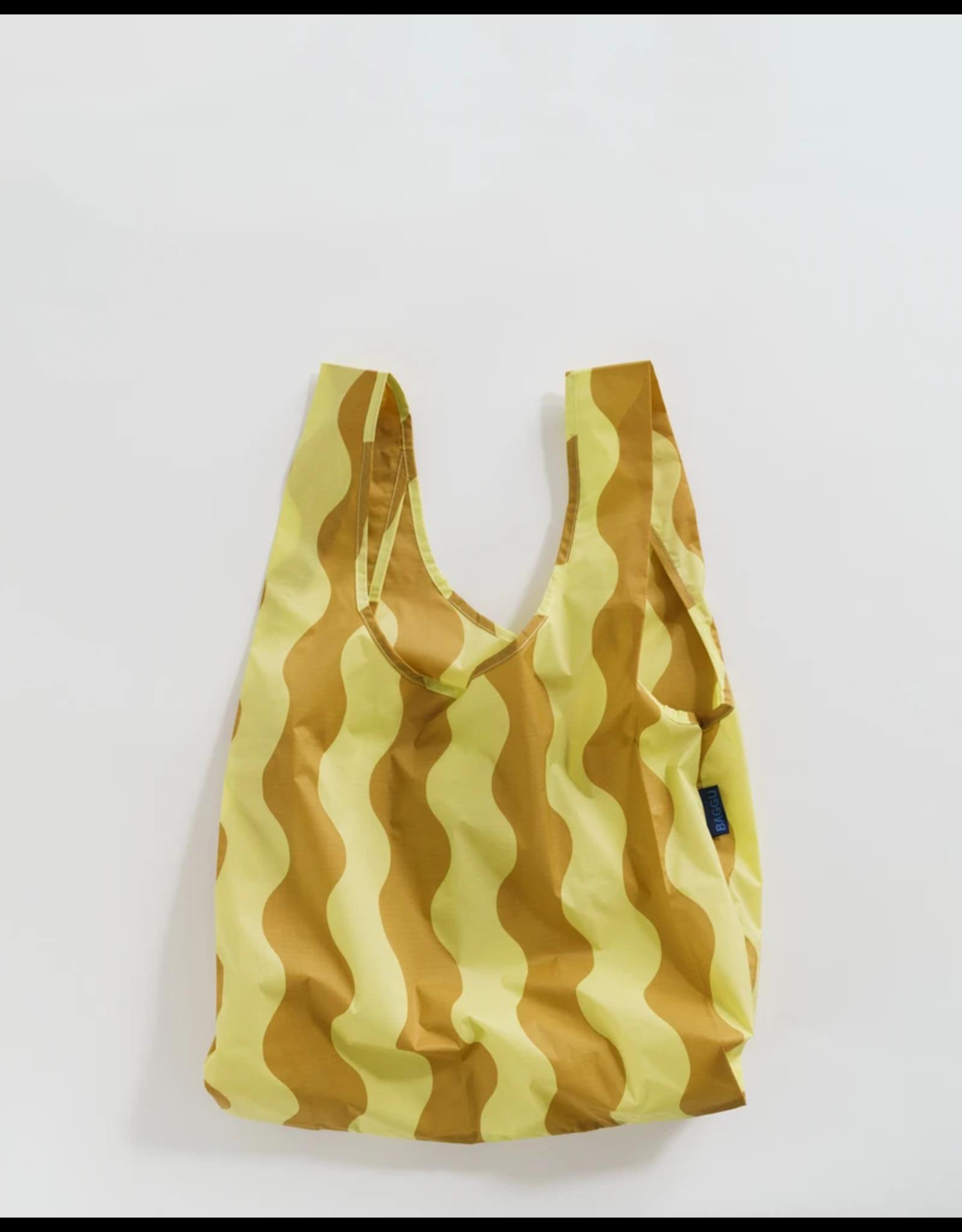 Baggu Baggu Yellow & Gold Wavy Stripe Reusable Bag
