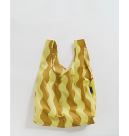 Baggu Baggu Yellow & Gold Wavy Stripe Reusable Bag