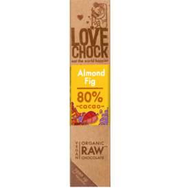 Lovechock Almond Fig Organic Raw Chocolate