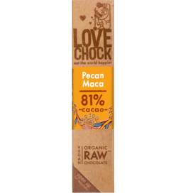 Lovechock Pecan Maca Organic Raw Chocolate