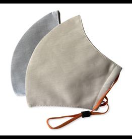 Happy Natural Products 3 Layer Mask - Tan / Grey