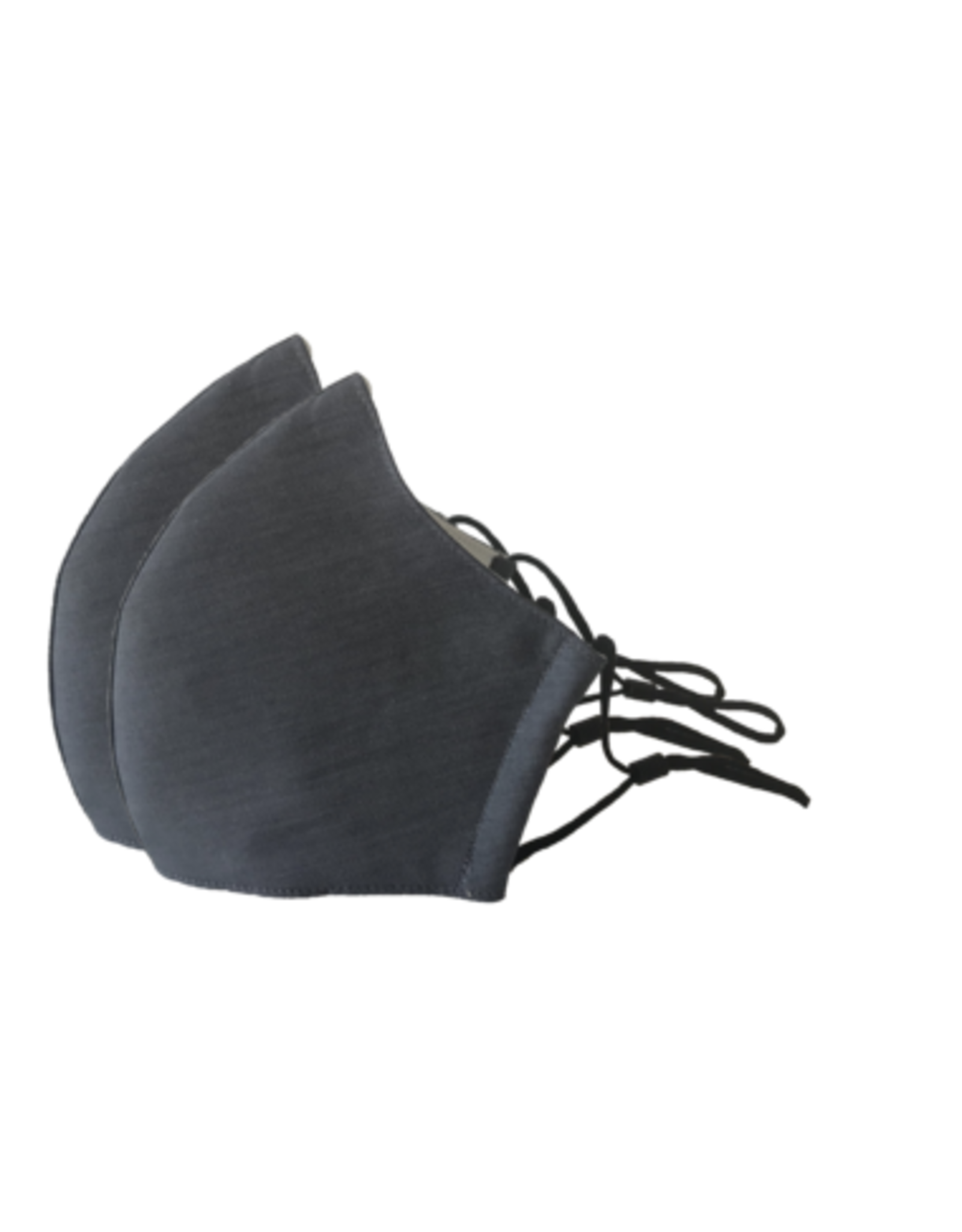 Happy Natural Products 3 Layer Mask - Charcoal
