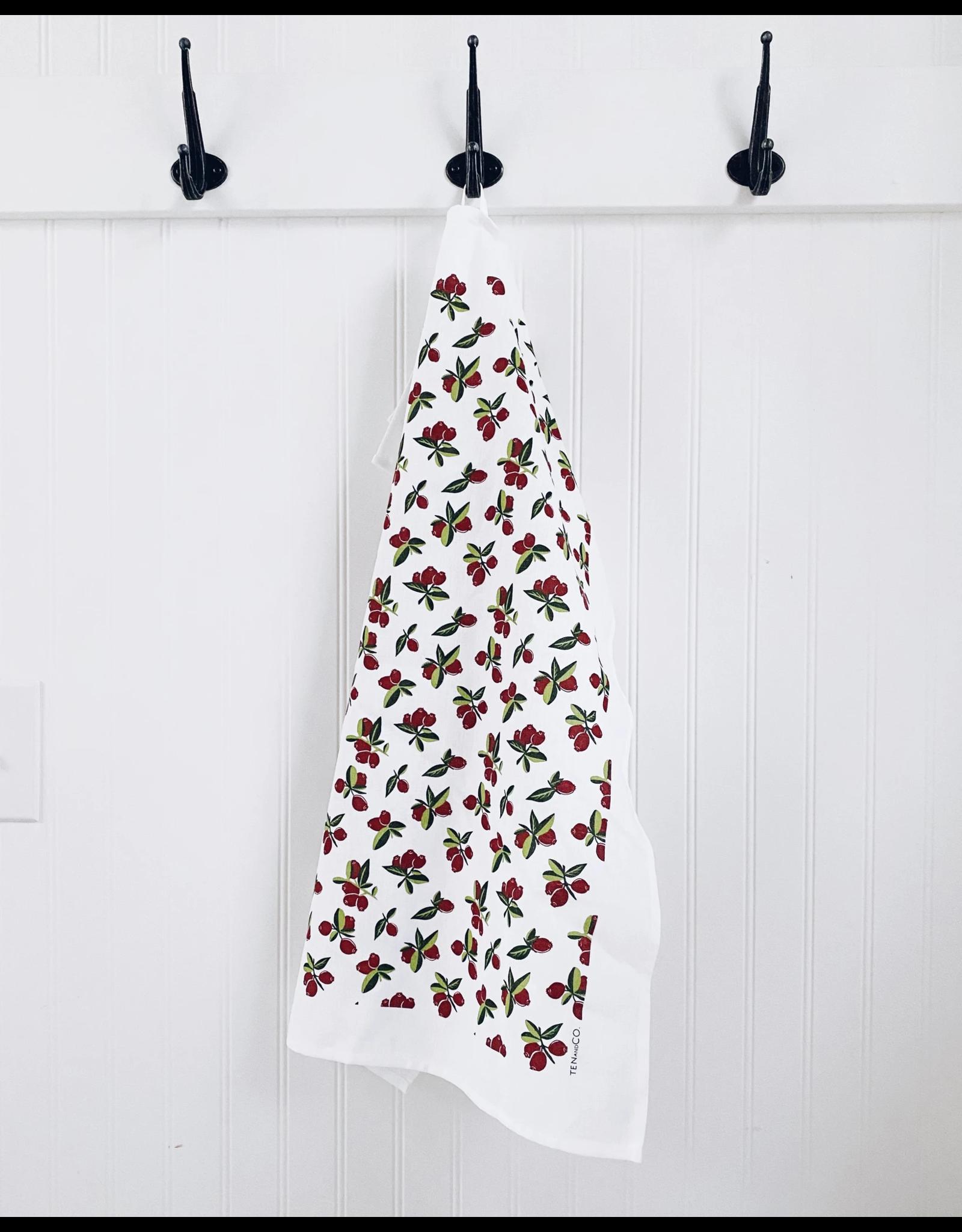 Ten & Co Tea Towel - Vintage Cranberry
