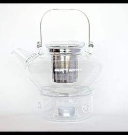 JusTea Glass Tea Pot + Warmer
