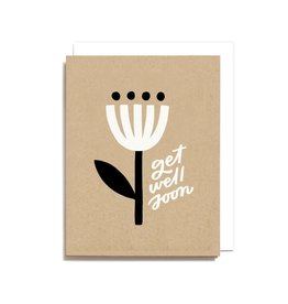 Worthwhile Paper Get Well Soon Minimal Flower Card