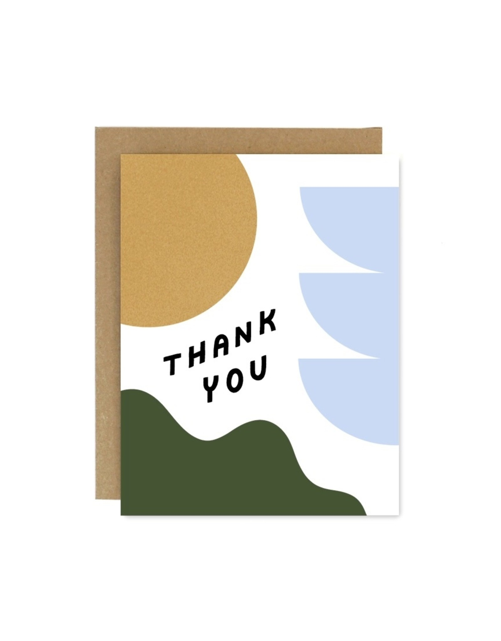 Worthwhile Paper Thank You Shapes & Colours Card