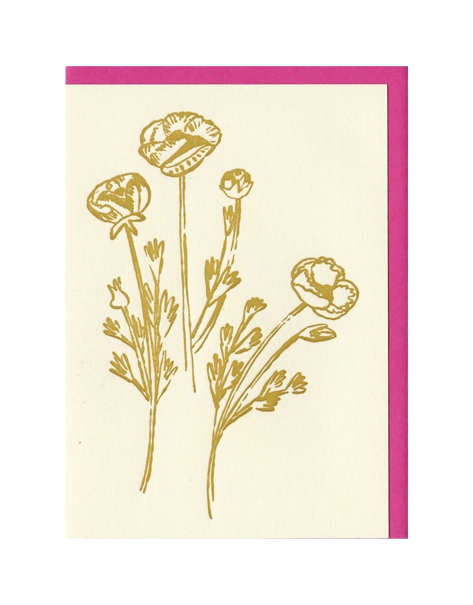 People I've Loved Gold Flowers Card