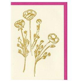 People I've Loved Gold Flowers Card