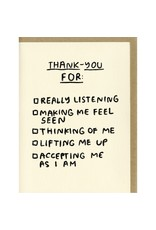 People I've Loved Thank You Checklist Card