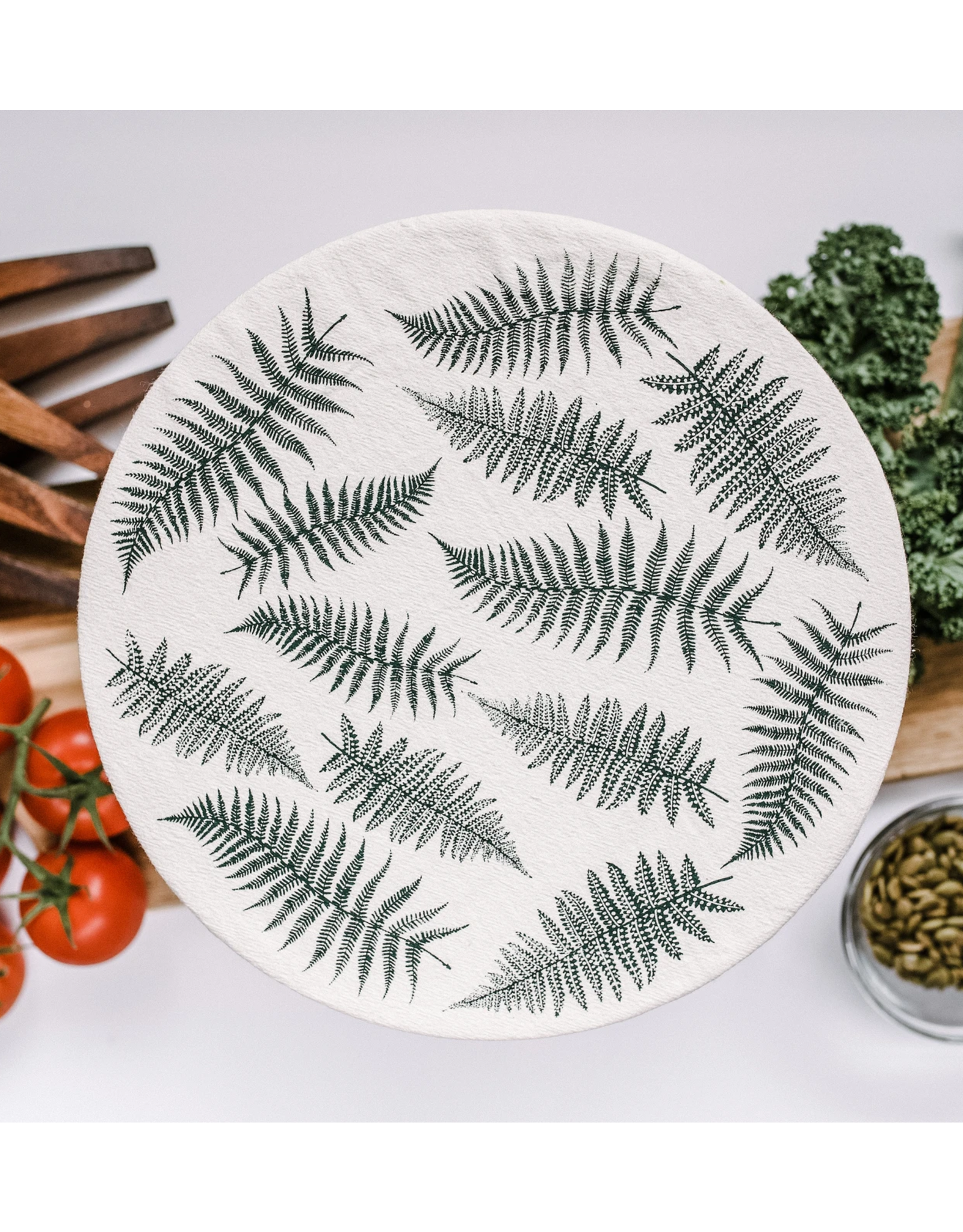 Your Green Kitchen Fern Bowl Cover XL