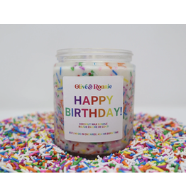 Olive & Ronnie Happy Birthday! Candle