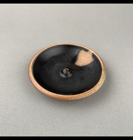 Incausa Stoneware Incense Burner - Black