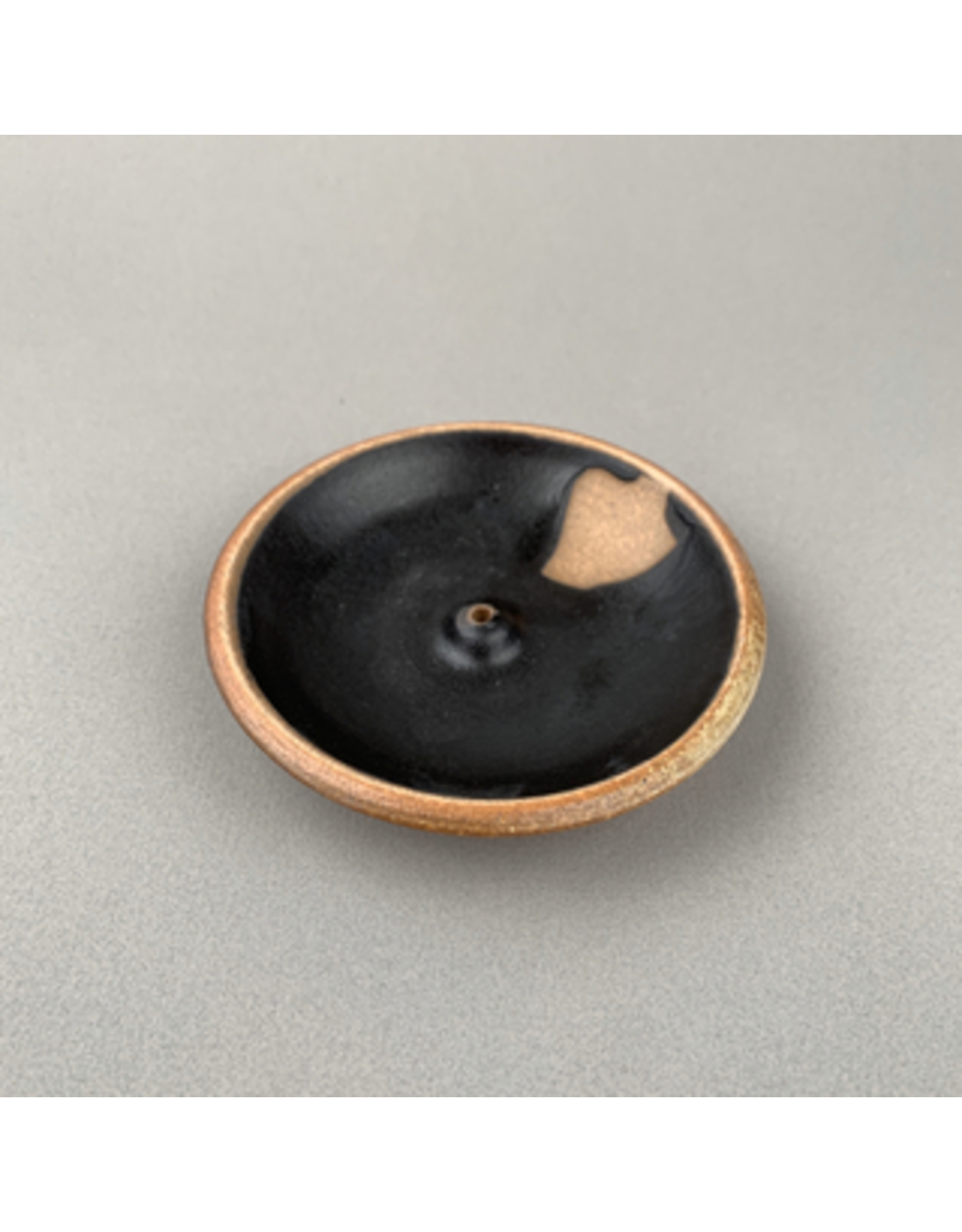 Incausa Stoneware Incense Burner - Black