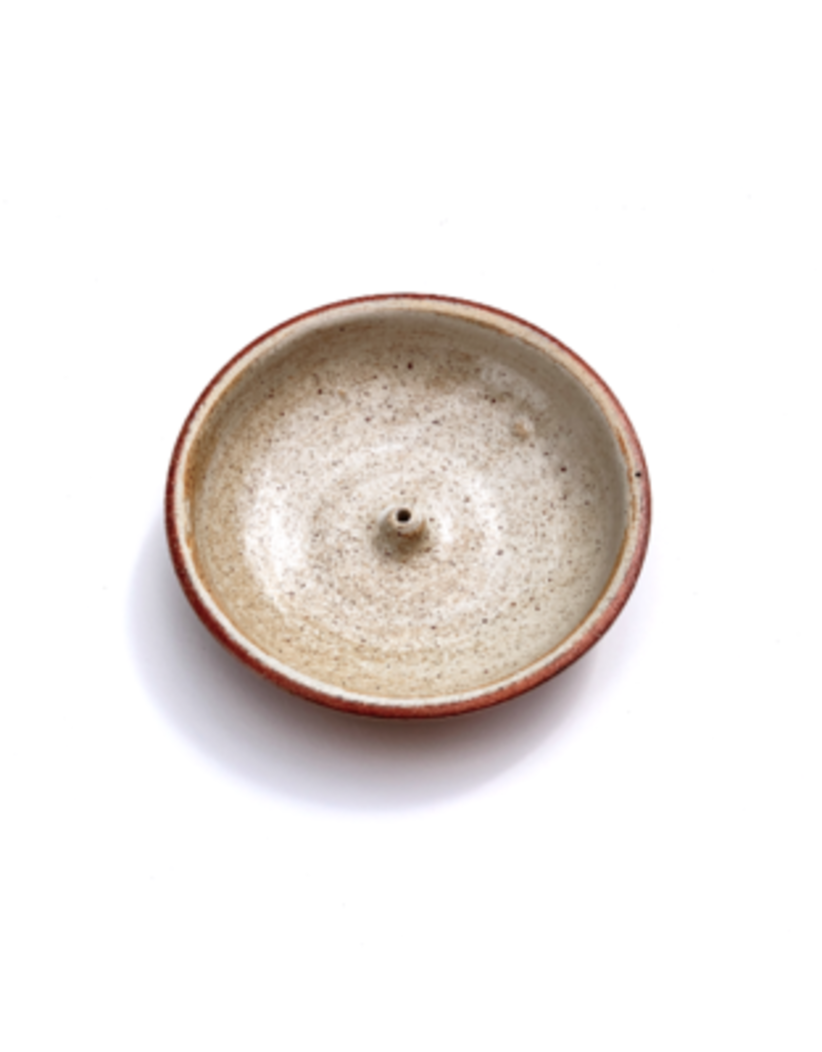 Incausa Stoneware Incense Burner - Piker White