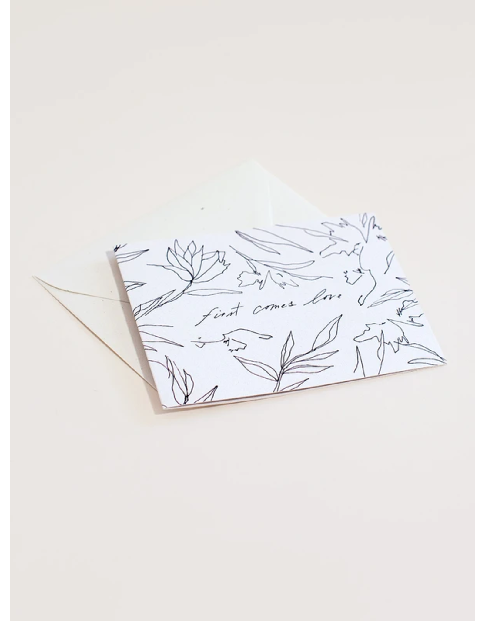 Wilde House Paper First Comes Love Card