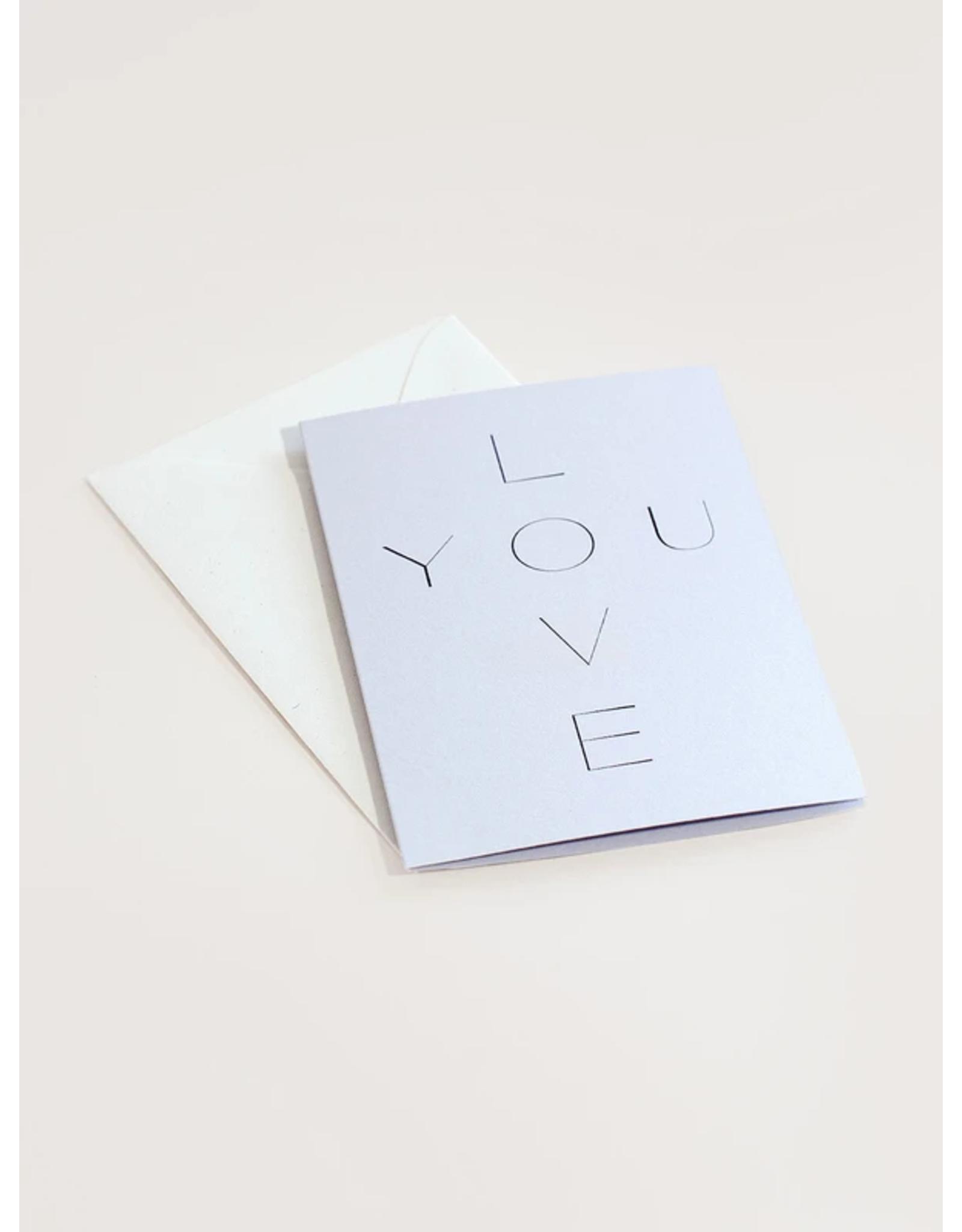 Wilde House Paper Love You Card