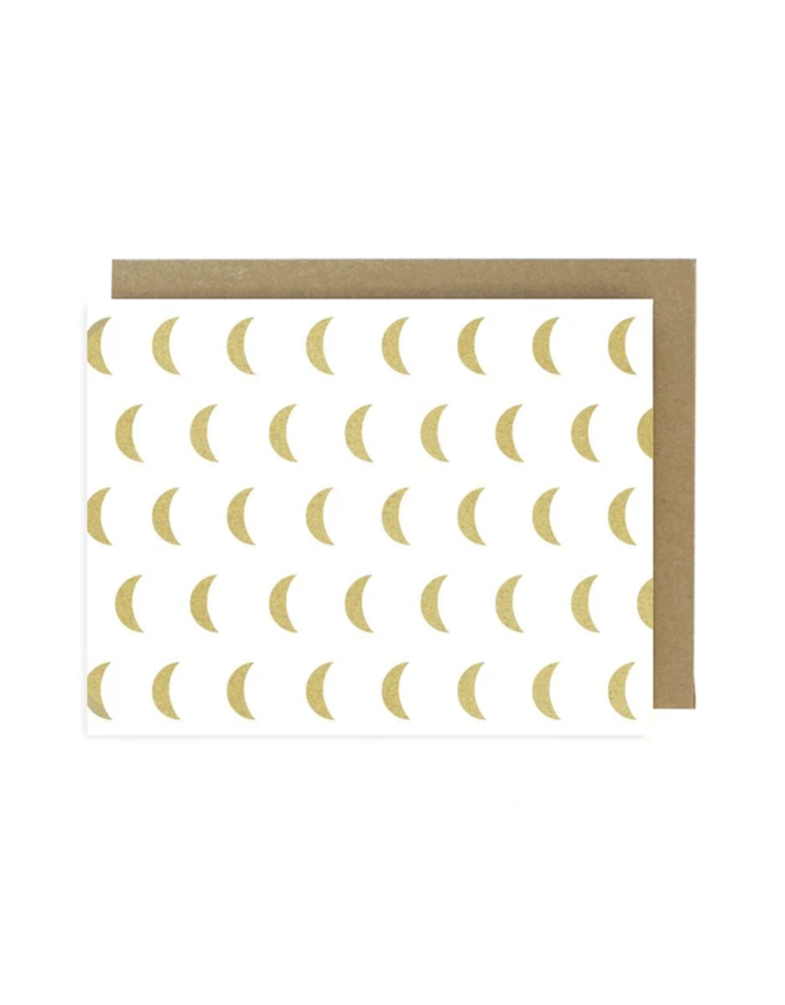 Worthwhile Paper Gold Moon Pattern Card