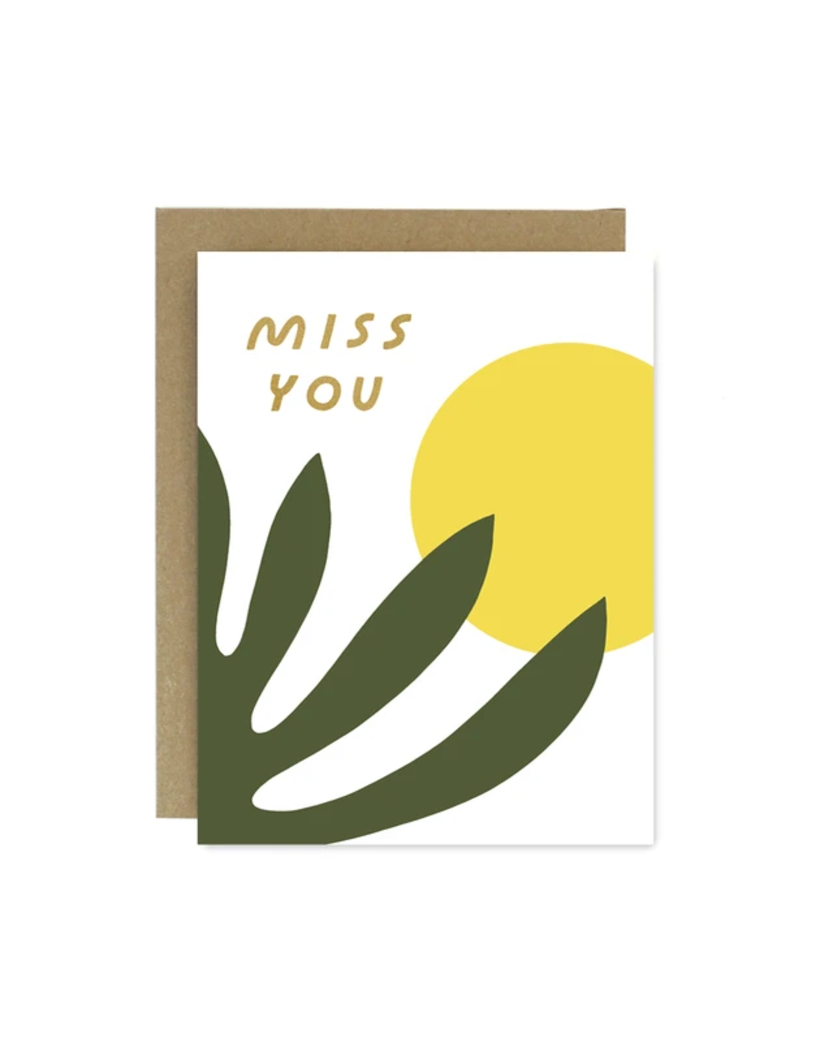 Worthwhile Paper Miss You Shapes & Colours Card