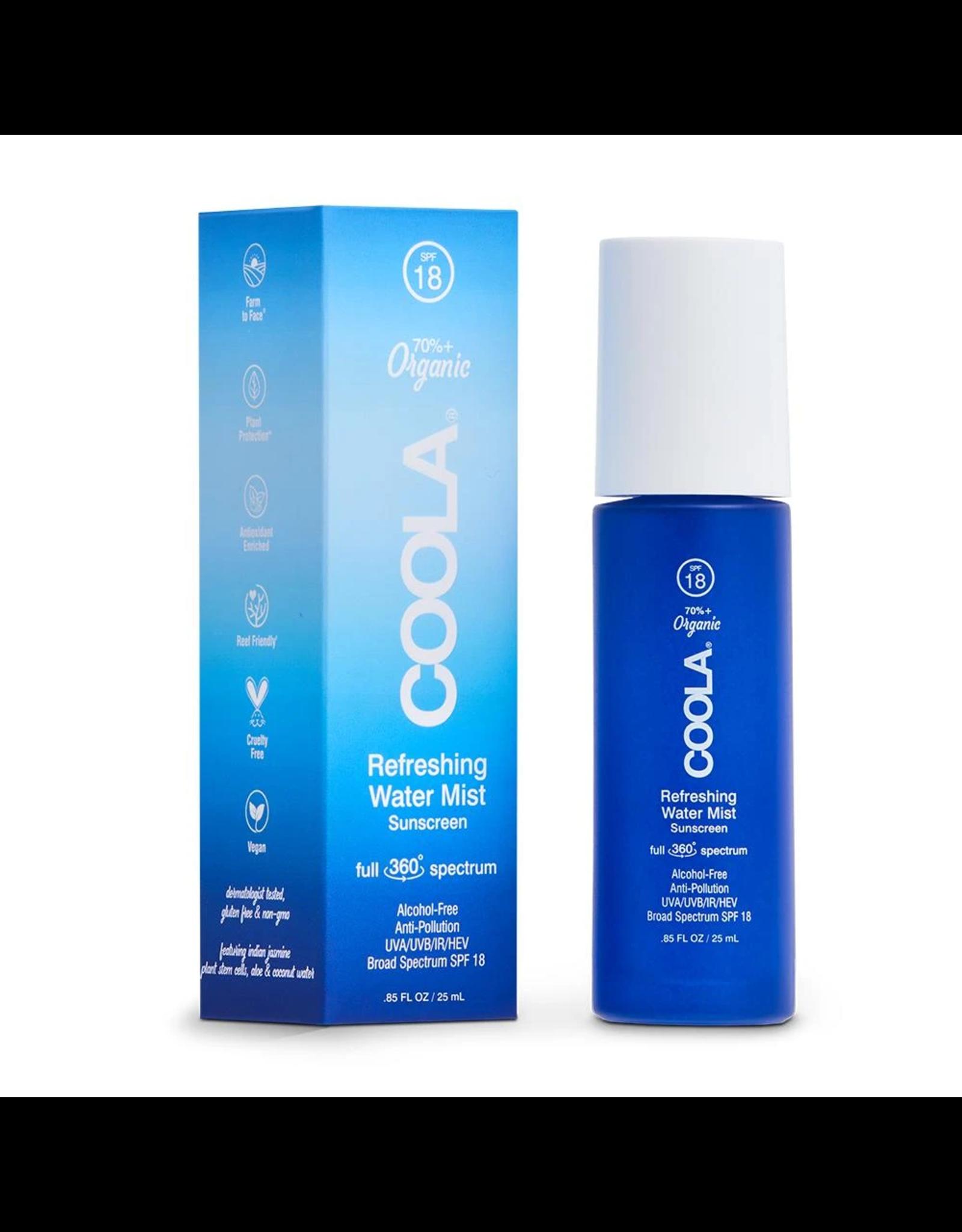 COOLA SPF 18 Full Spectrum 360 Refreshing Water Mist Organic Face Sunscreen