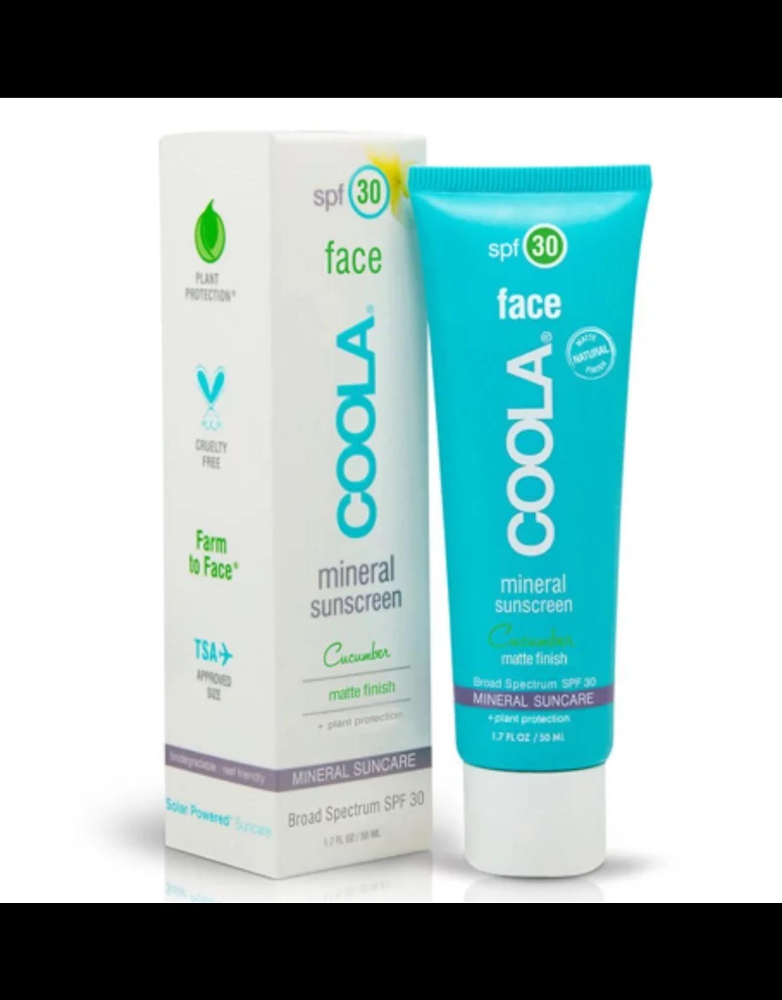COOLA Face Mineral Sunscreen SPF 30 Cucumber Matte Finish