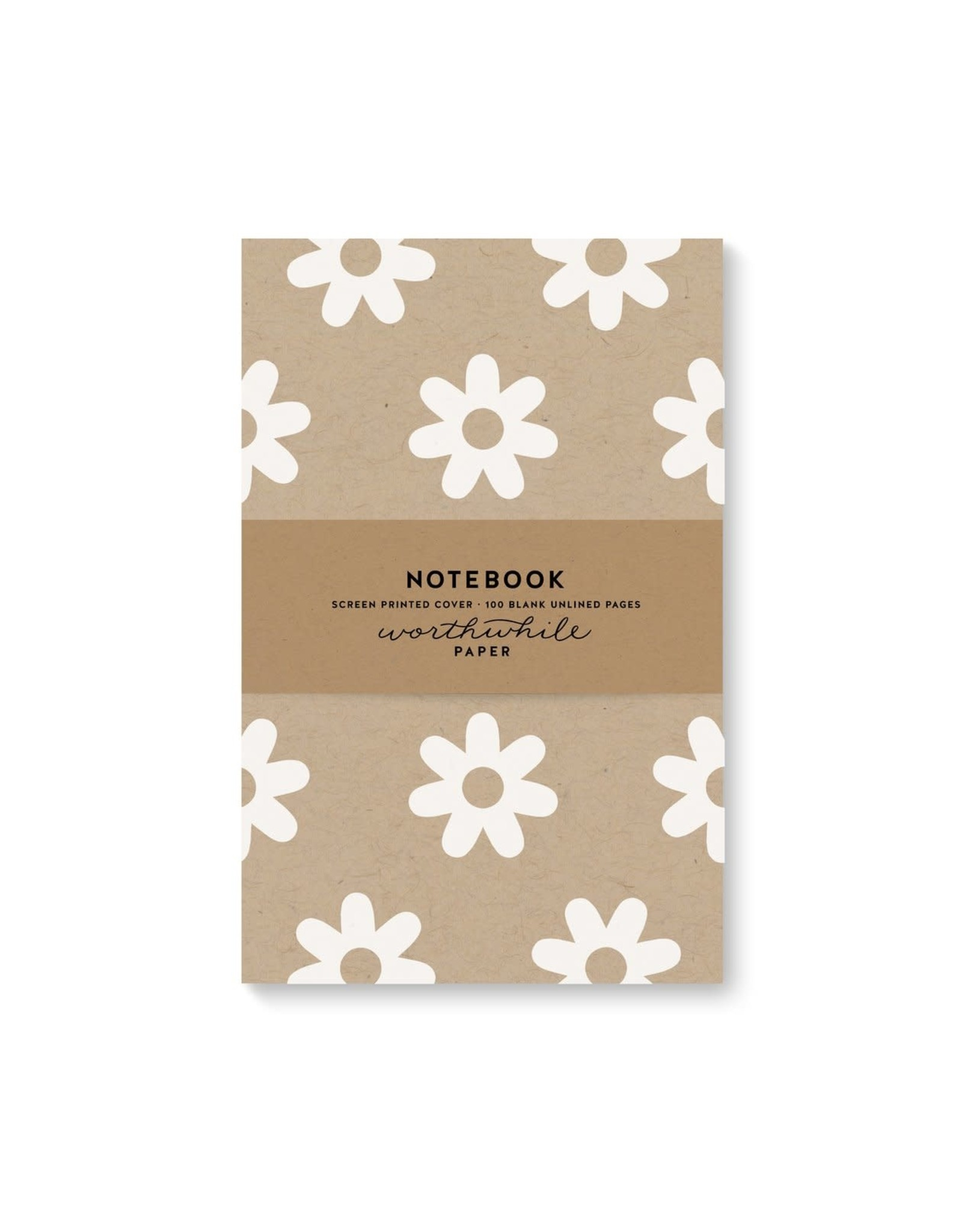 Worthwhile Paper Daisy Pattern Notebook