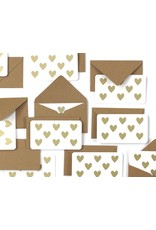 Worthwhile Paper Gold Hearts Mini Note Set