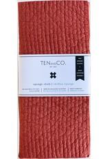Ten & Co 2 Pack Solid Swedish Sponge Cloths