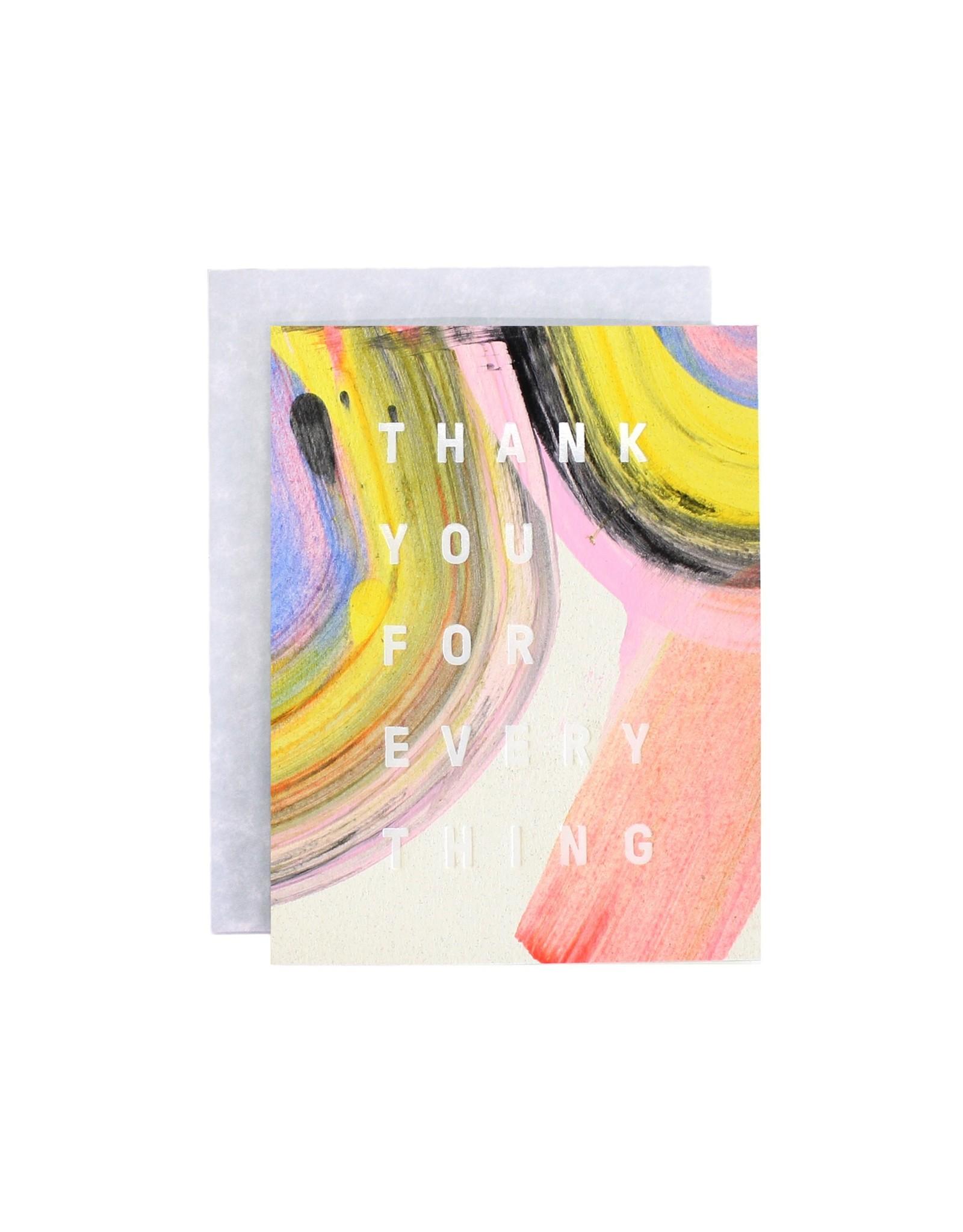 Moglea Rainbow Thank You Greeting Card