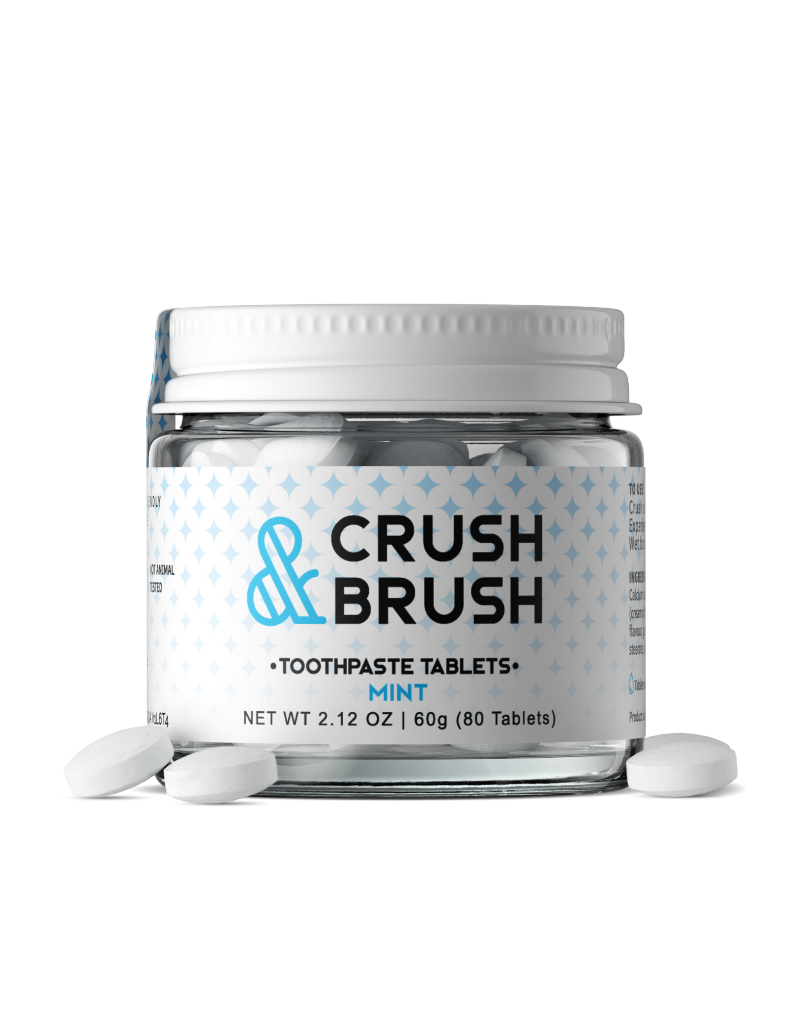 Nelson Naturals Crush & Brush Toothpaste Tablets Mint