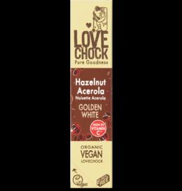 Lovechock Golden White Hazelnut Acerola Organic Raw Chocolate