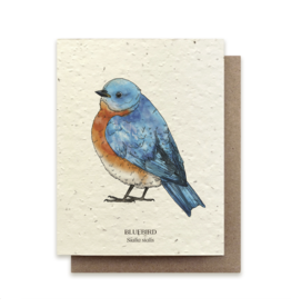The Bower Studio Bluebird Plantable Seed Paper Greeting Card