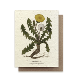 The Bower Studio Dandelion Plantable Seed Paper Greeting Card