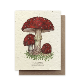 The Bower Studio Fly Agaric Plantable Seed Paper Greeting Card
