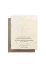 The Bower Studio Fox Plantable Seed Paper Greeting Card