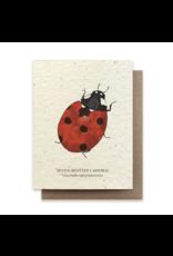 The Bower Studio Ladybug Plantable Seed Paper Greeting Card