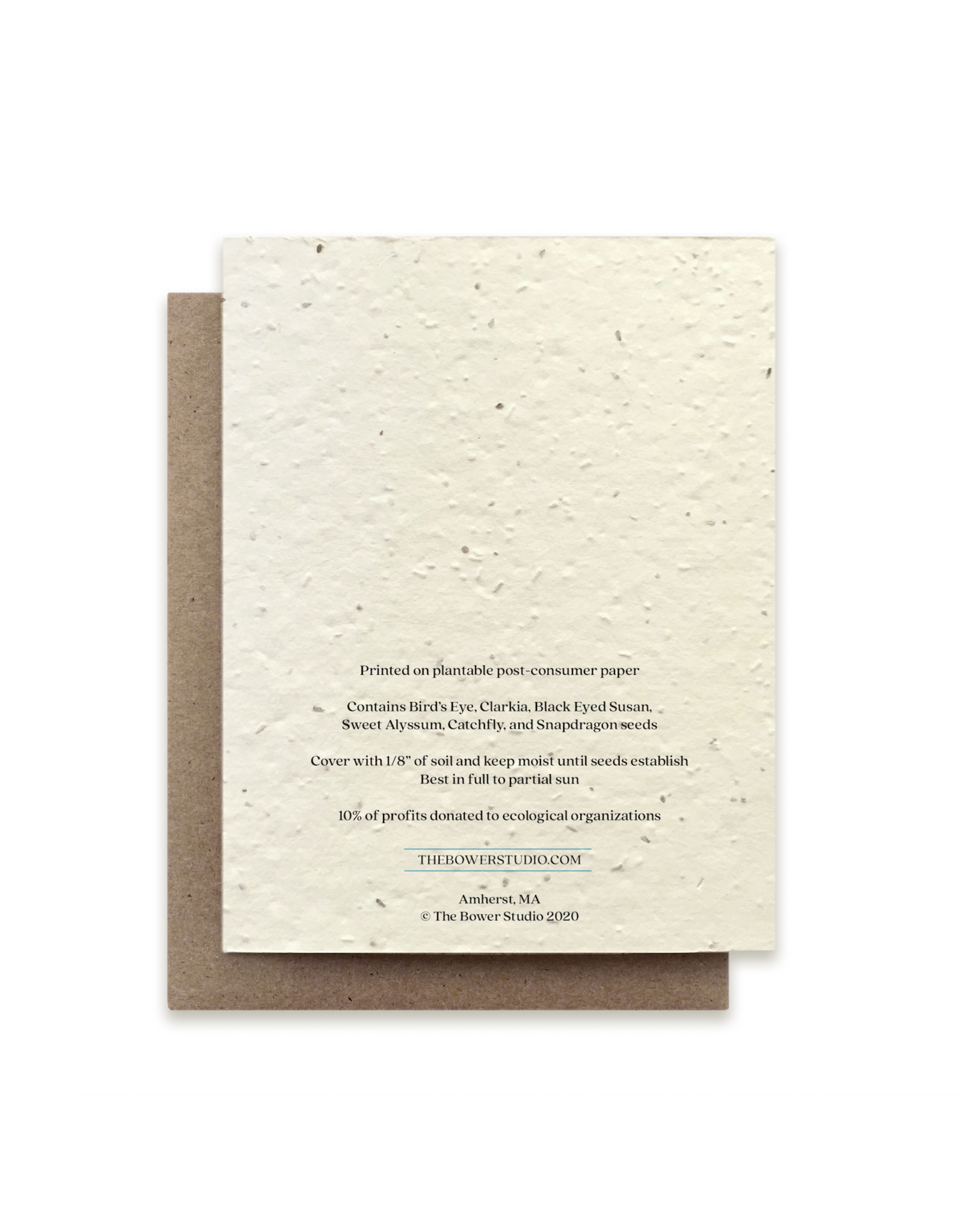 The Bower Studio Monarch Plantable Seed Paper Greeting Card