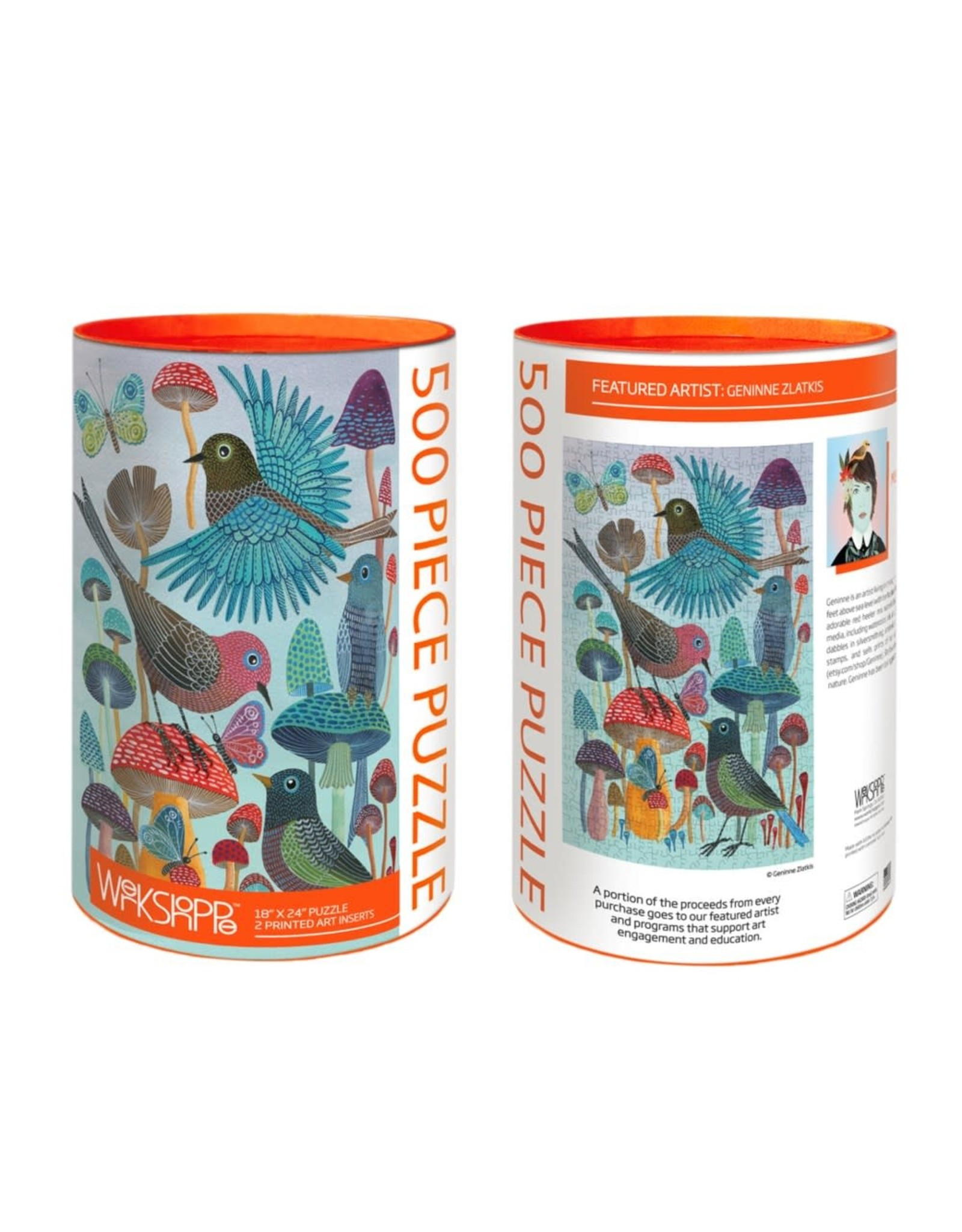 Werkshoppe Mushroom Garden - 500 pc. Puzzle