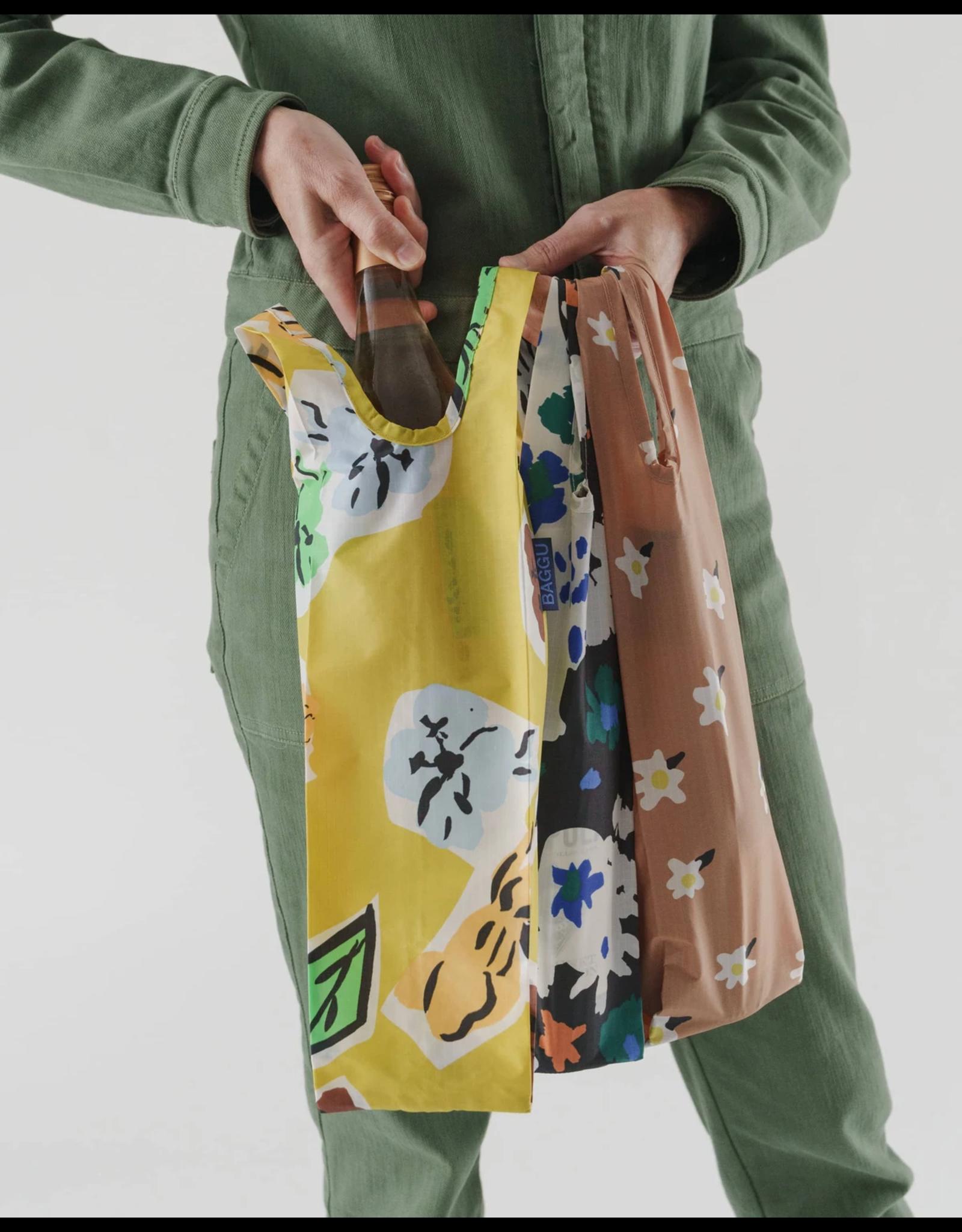 Baggu Baggu Reusable Wine Bags, Set of 3 - Archive Florals