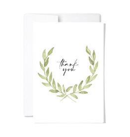 Paperscript Laurel Thank You Card