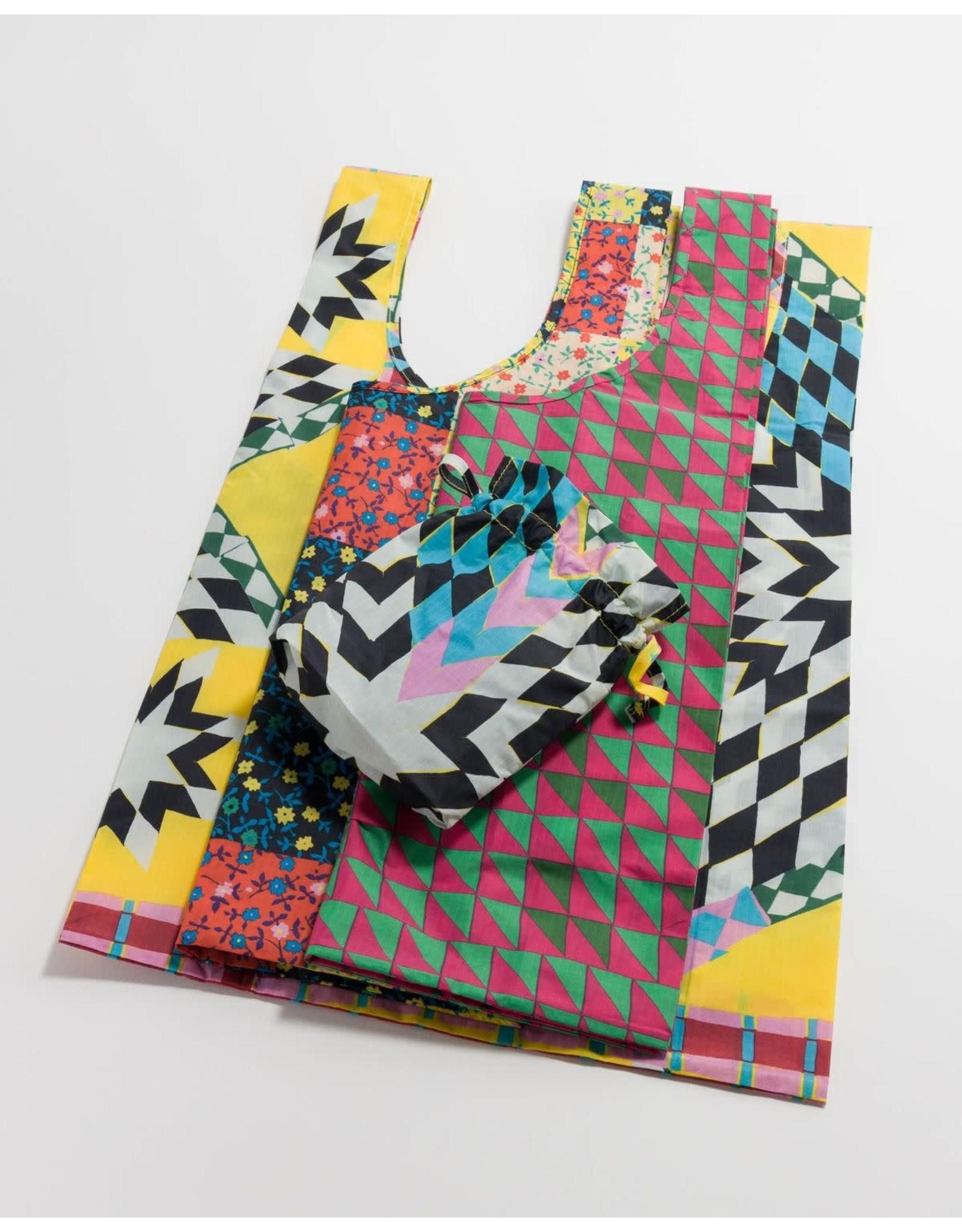 Baggu Baggu Set of 3 Reusable Bags - Quilts