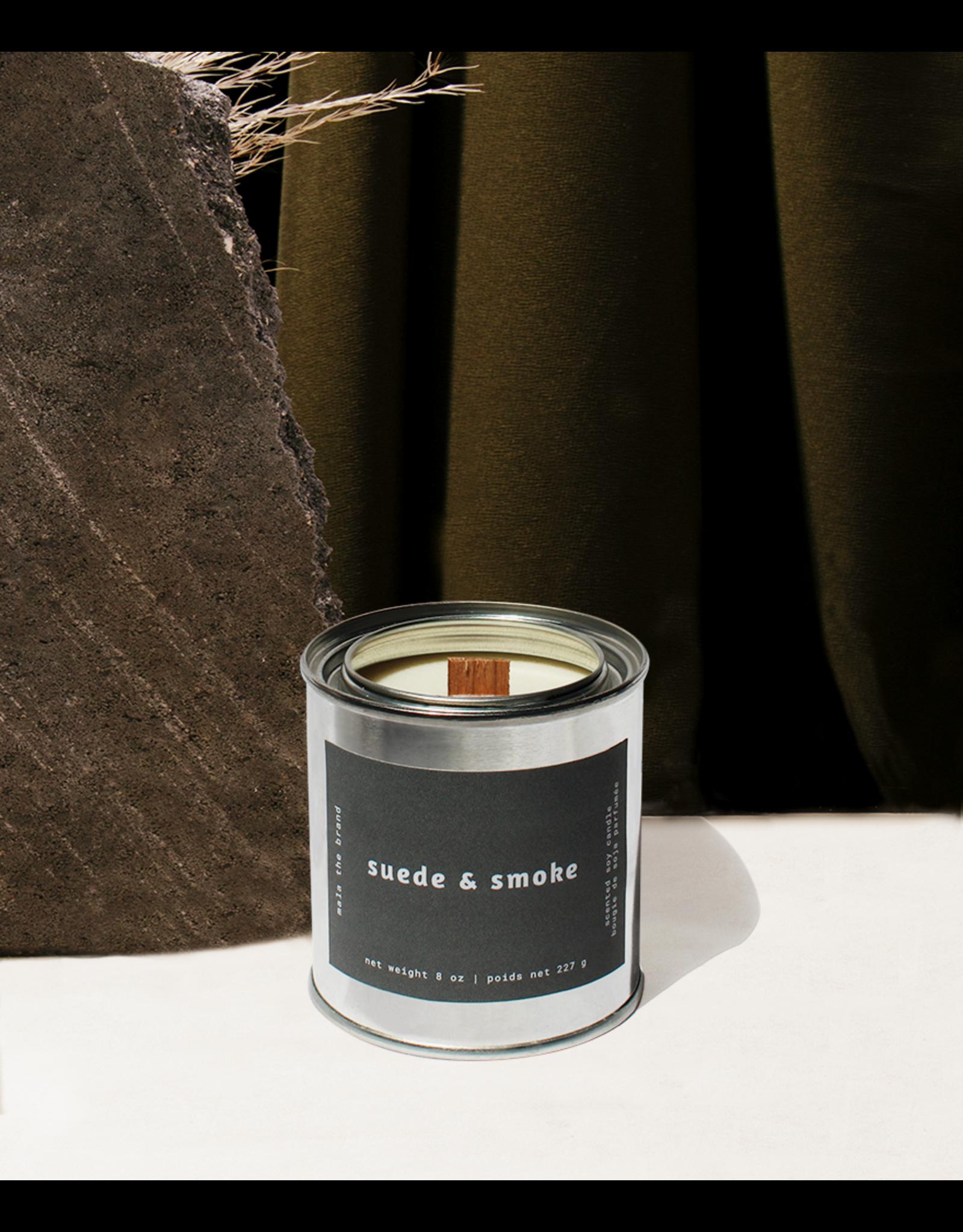 Mala The Brand Suede & Smoke Candle / Saffron + Vetiver + Cedarwood