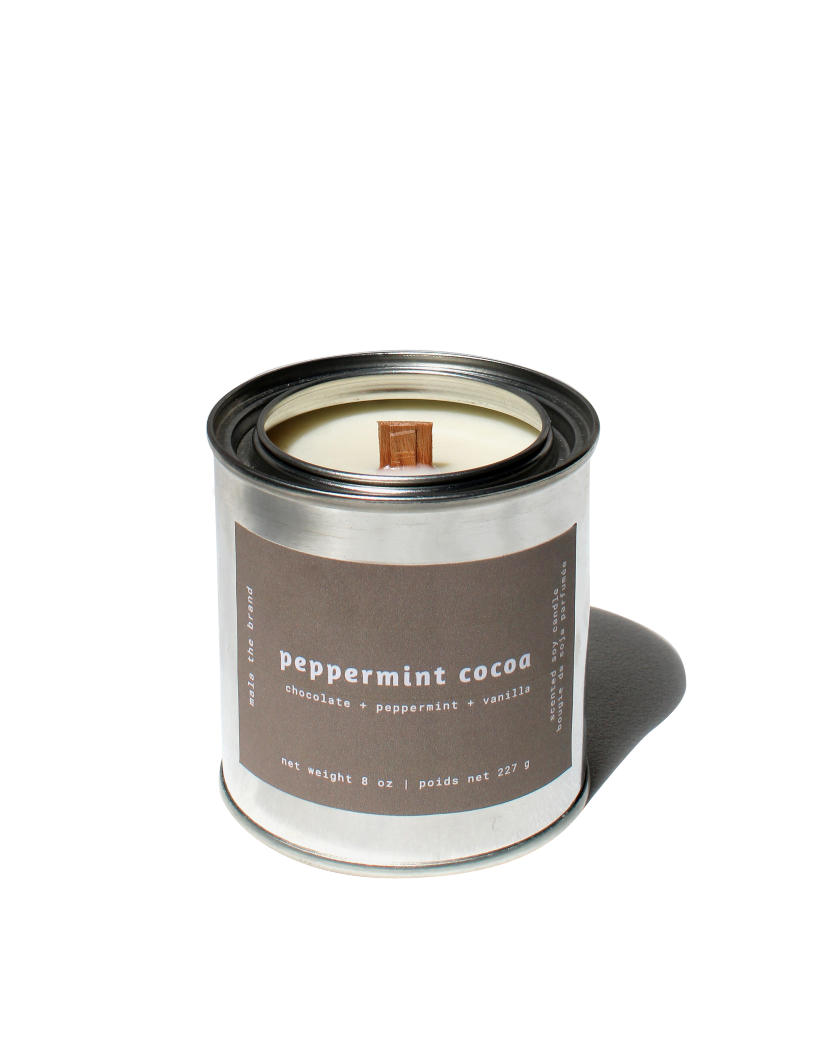Mala The Brand Peppermint Cocoa Candle / Chocolate + Peppermint + Vanilla
