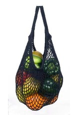Eco-Bags Black Cotton String Shopping Bag (short handle)